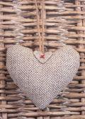 Tweed Heart — Stock Photo