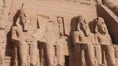 Ramses two temple entrance Abu Simbel — Stock Photo