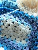 Crochet blue — Stock Photo