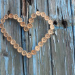 Stock Photo: Shabby Chic Button Heart