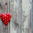 Foto Stock: Red and White Spotty Romance