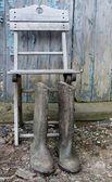 Abandoned Wellies — Stock Photo