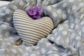 Stripy Love Heart — Stockfoto