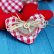 Rustic Valentine Hearts — Stock Photo #39968581