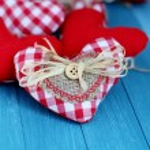 Rustic Valentine Hearts — Stock Photo