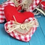 Rustic Valentine Hearts — Stock Photo #39968605