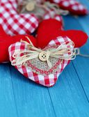Rustic Valentine Hearts — Stock Photo