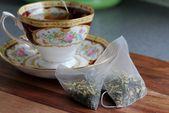 Herbal tea bags — Stock Photo