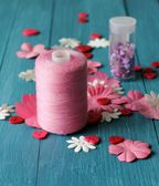 Pink Craft Materials — Stock Photo