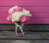 Roses and Fuchsia — Stock Photo