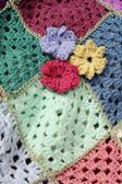 Hand Crocheted Flowers — Stock Photo