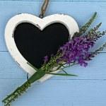 Heart Shaped Chlak Board — Stock Photo #49212337