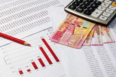 Financial or accounting concept — 图库照片