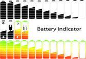 Symbole wektor wskaźnik poziomu baterii — Zdjęcie stockowe