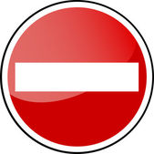 Traffic Sign - forbidden — Stock Vector