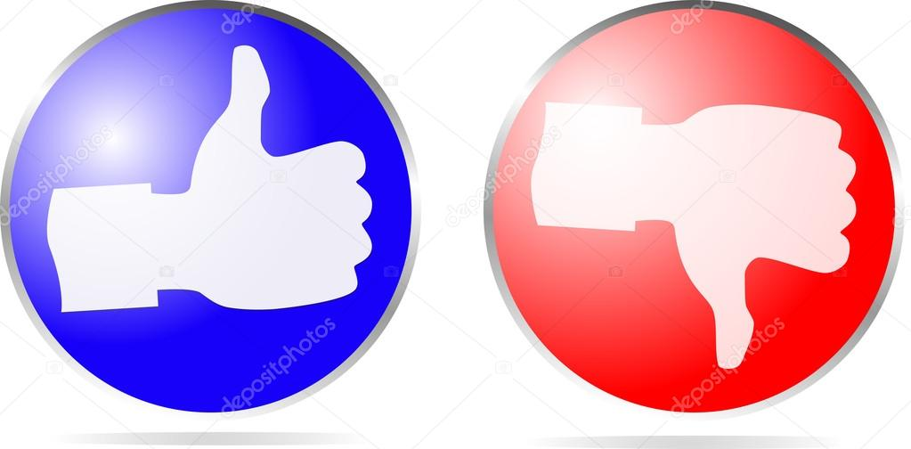 Pictogram duim omhoog en duim omlaag  u2014 Stockfoto  u00a9 stioss #27780157