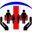 Logo - Family Health Protection — Stock Photo