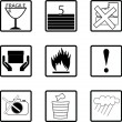 Packing symbols — Stock Photo