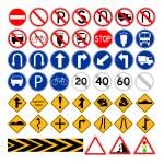 conjunto de señales de tráfico simple — Vector de stock