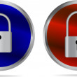 Icon - Lock and Unlock — Stockvector #30779995