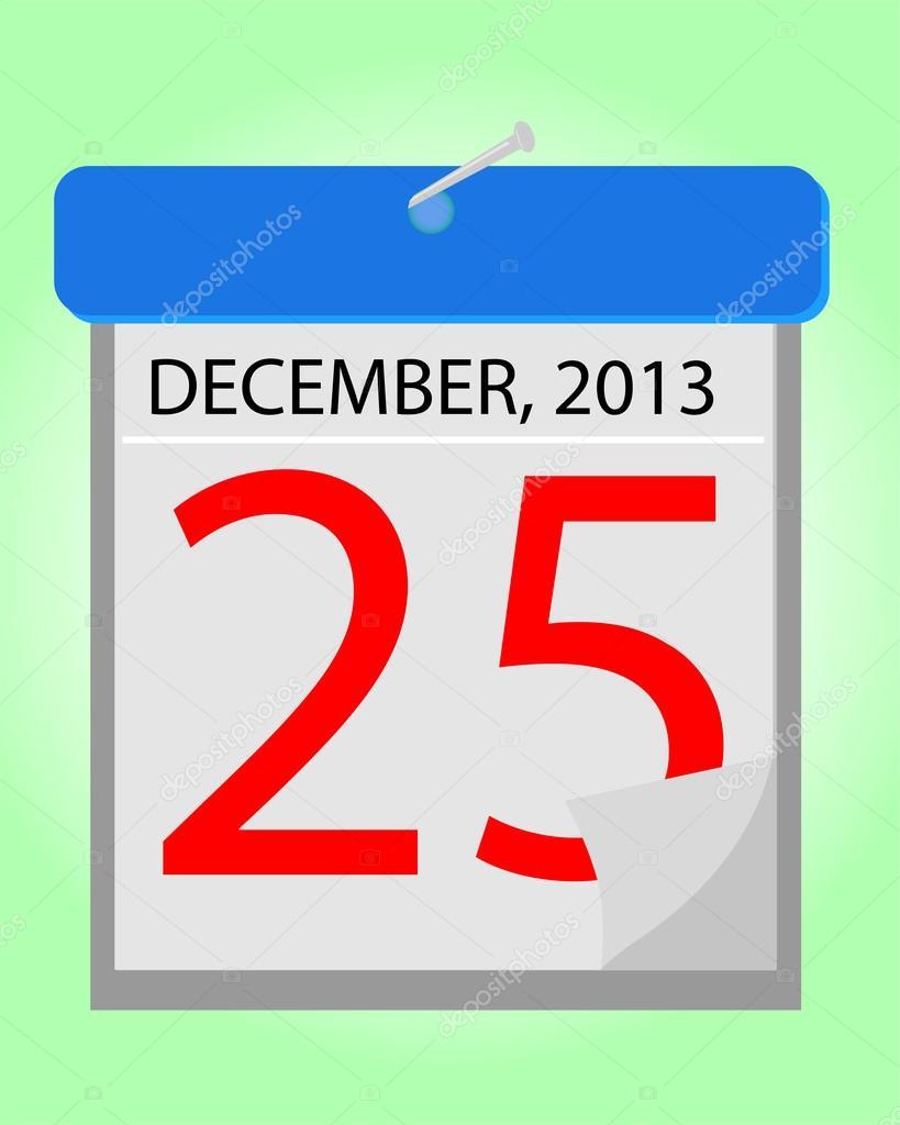 calendar 25 december 2013  u2014 stock vector  u00a9 stioss  32070687