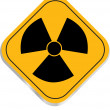 Radiation hazard symbol sign — Stock Vector