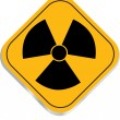 Radiation hazard symbol sign — Stock Vector #32365273