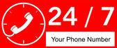24 hour Call Center — Vector de stock