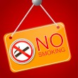 Stock Vector: Shiny No Smoking Sign
