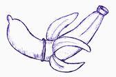 Doodle banana — Stock Vector