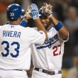 Juan Rivera & Matt Kemp — Stock Photo