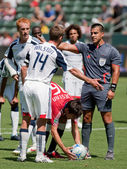 Chivas USA vs. New England Revolution match — Stock Photo