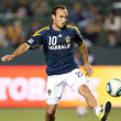 MLS game between the Portland Timbers & the Los Angeles Galaxy — Stock Photo