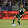 Stock Photo: MLS game between Portland Timbers and Los Angeles Galaxy