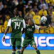 MLS game between the Portland Timbers and the Los Angeles Galaxy — 图库照片