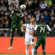 MLS game between the Portland Timbers and the Los Angeles Galaxy - Stock Photo