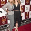 Sharon Lawrence and friend arrive at the Los Angeles Film Festival premiere — Stock Photo