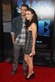Ryan Guzman and Kathryn McCormick arrive at Warner Bros premiere — Stock Photo