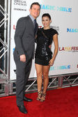 Channing Tatum and Jenna Dewan-Tatum arrives at Warner Bros premiere — Stock Photo