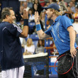 John Lovitz and Jim Courier play a charity match against Gavin Rossdale and Michael Chang - Stock Photo