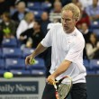 Andre Agassi and John McEnroe play a charity match — Foto de Stock