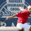 Leonardo Mayer and James Blake play a match — Foto Stock