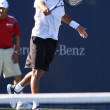 Benjamin Becker and James Blake play a match — Stok fotoğraf