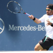 Janko Tipsarevic of Serbia (pictured) and Sam Querrey of USA play a match at the 2010 Farmers Classic — Stock Photo #14372549