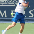Andy Murray of Great Britain and Sam Querrey of USA (pictured) play the final match at the 2010 Farmers Classic — Stock Photo #14372667