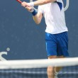 Andy Murray of Great Britain (pictured) and Sam Querrey of USA play the final match at the 2010 Farmers Classic — Stock Photo #14372865