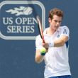 Andy Murray of Great Britain (pictured) and Sam Querrey of USA play the final match at the 2010 Farmers Classic — Stock Photo #14372873