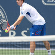 Andy Murray of Great Britain (pictured) and Sam Querrey of USA play the final match at the 2010 Farmers Classic — Stock Photo