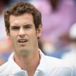 Andy Murray of Great Britain (pictured) and Sam Querrey of USplay final match at 2010 Farmers Classic — Stock Photo #14372923