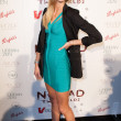 Victoria's Secret model Erin Heatherton arrives at Nomad Two Worlds Los Angeles debut galat 59 Pier Studios West — Stock Photo #14373449